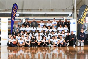 Jr NBA participants at the Charity Bounce launch