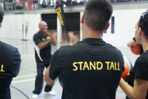 The participants learning how to Stand Tall at NCIE in Redfern