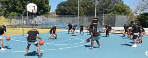 Stand Tall program with NBL Legend Steve Carfino at Prince Alfred Park.
