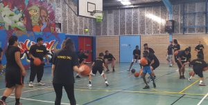 Mt Druitt youth bouncing their way to better basketball skills.