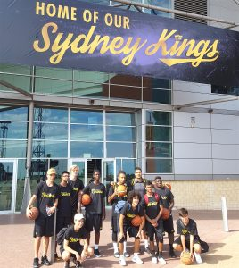 The Stand Tall All Stars arriving for the Sydney Kings training session.