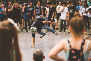 Breaking down barriers through breakdancing at the festival.