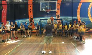 Shane 'the hammer' Heal giving some shooting tips at one of the scrimmage training sessions.