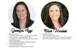 NBA Global Directors Jennifer Azzi and Blair Hardiek will be bringing their passion for the game to Sydney for the all female Stand Tall program.