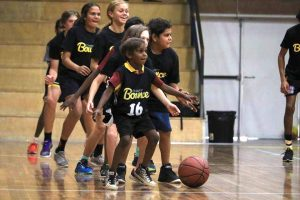 Everyone was eager to get involved at the Stand Tall program in Alice Springs.