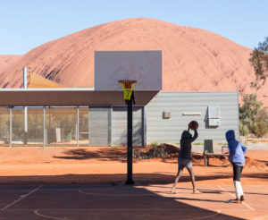 The basketball court has been getting a lot of use since the Stand Tall program took place.