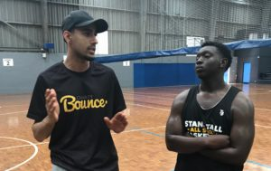 Head Coach Mahesh giving some advice to All Stars team Vice Captain Abdu.