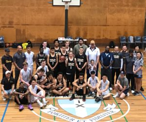 All Stars and the Kings school after the scrimmage.