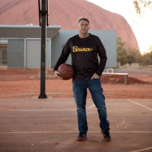 Charity Bounce co-founder and Chairman Steve Dunn at the recent Stand Tall Central Australia tour.