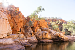 There are some amazing places to explore on the Larapinta Trek.
