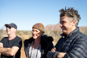 Celebrity Chef Sean Connolly with Charity Bounce CEO Ian Heininger and founder of Mondo Simone Allen on the Charity Bounce Inaugural Larapinta Trek
