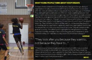 Hoop Dreams employment pathways program - what the young people have to say.