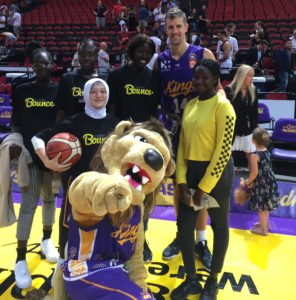 The Stand Tall All Stars had a chan e to meet some of the Kings legends on court.