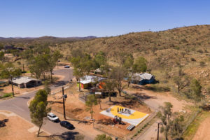 Bounce Court innovation project at Nyewente community in Central Australia.
