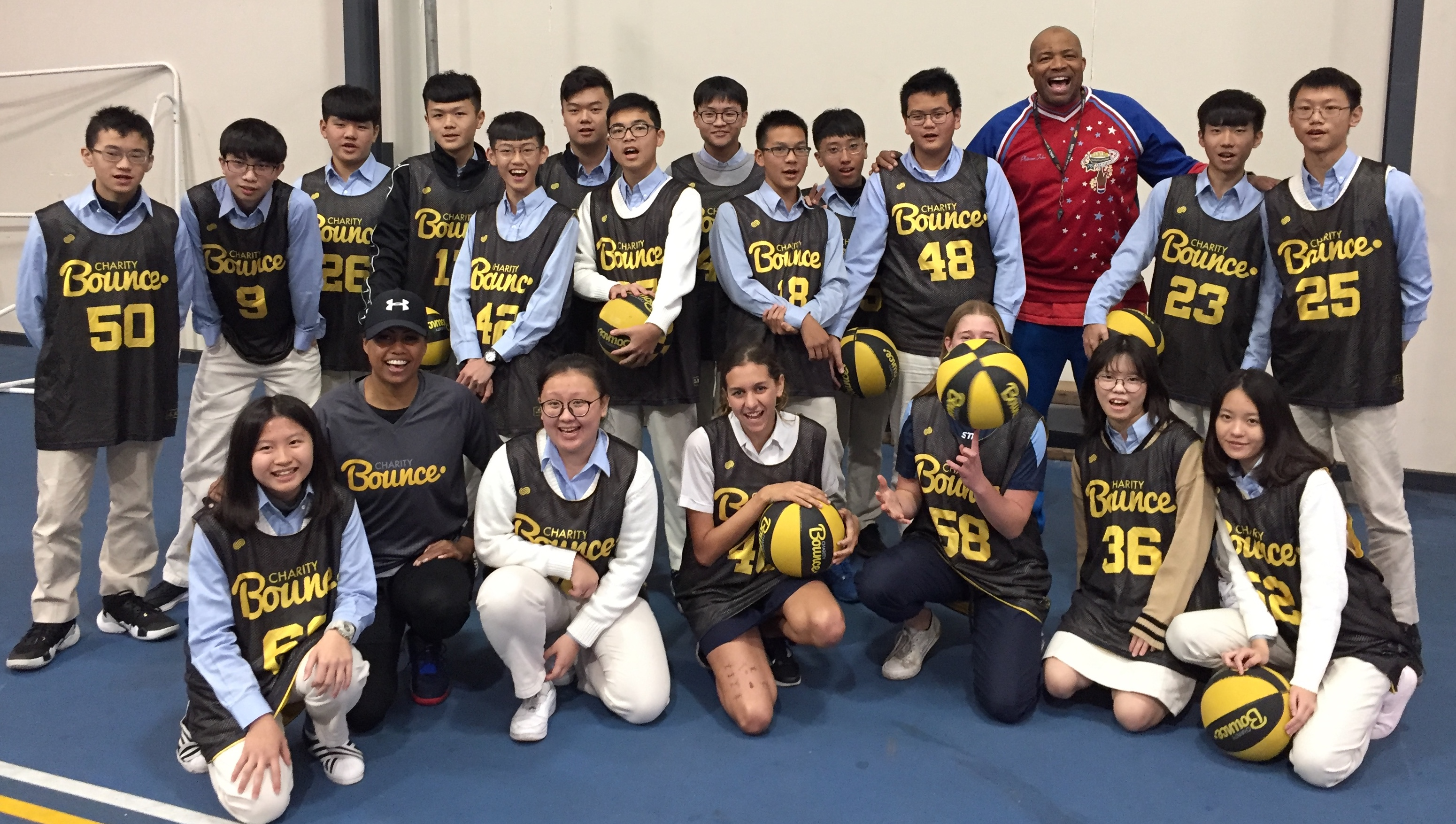 Charity Bounce delivered a Stand Tall program with Washington High School from Taiwan.